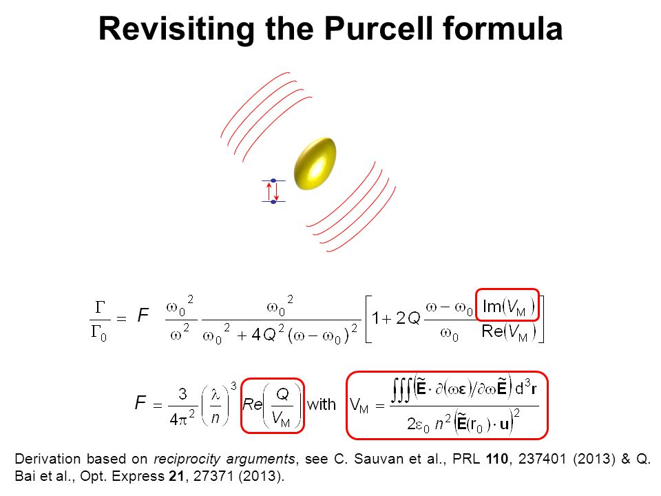Revisiting the Purcell formula