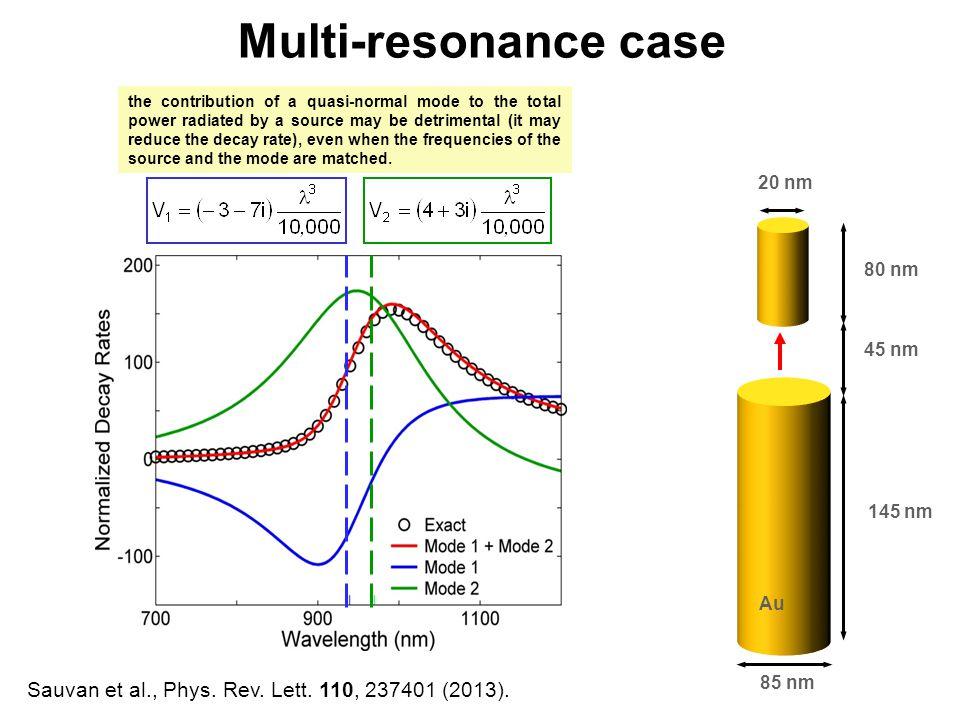 Multi-resonance case