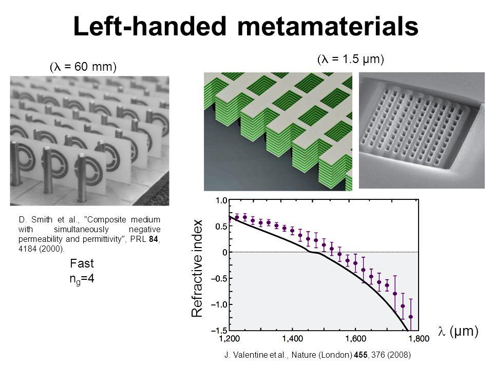 Left-handed metamaterials