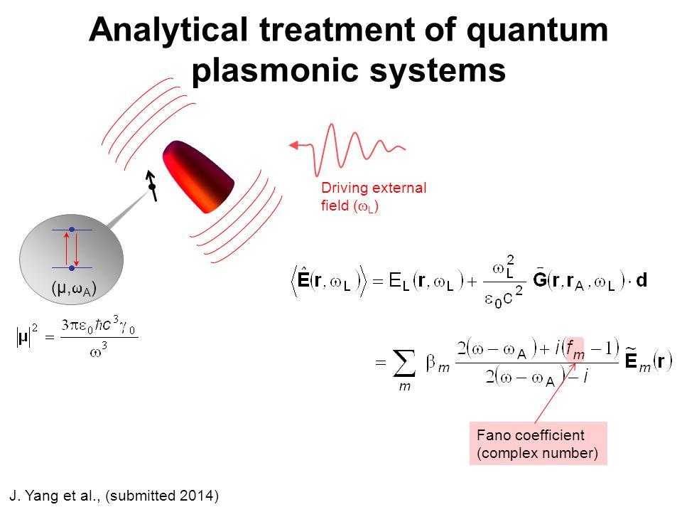 Analytical treatment of quantum plasmonic systems