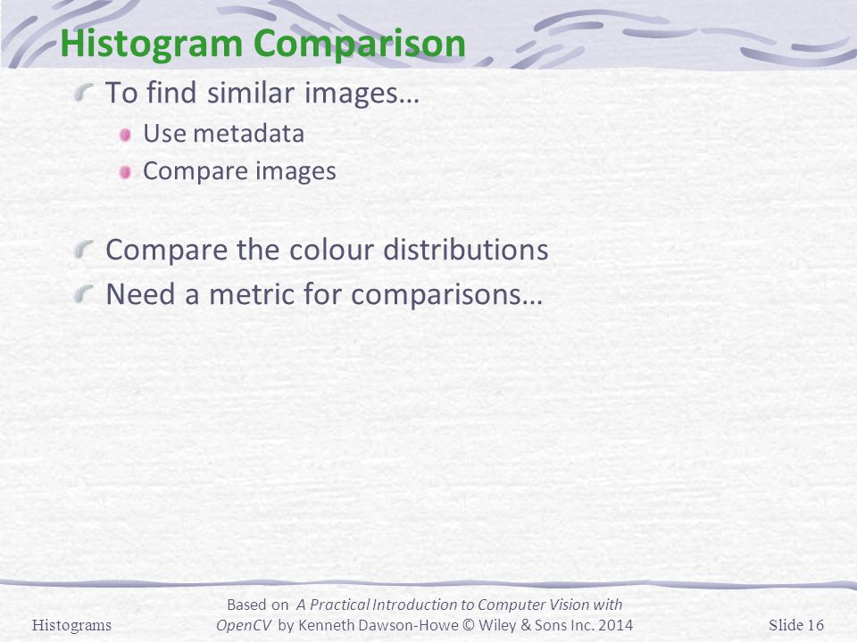 Histogram Comparison To find similar images…