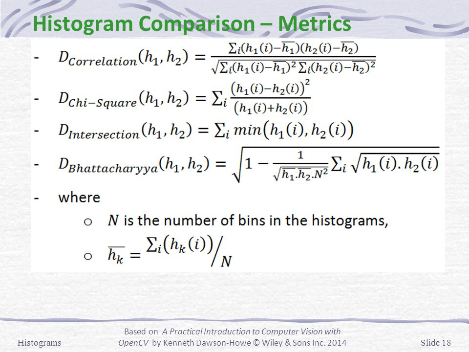 Histogram Comparison – Metrics