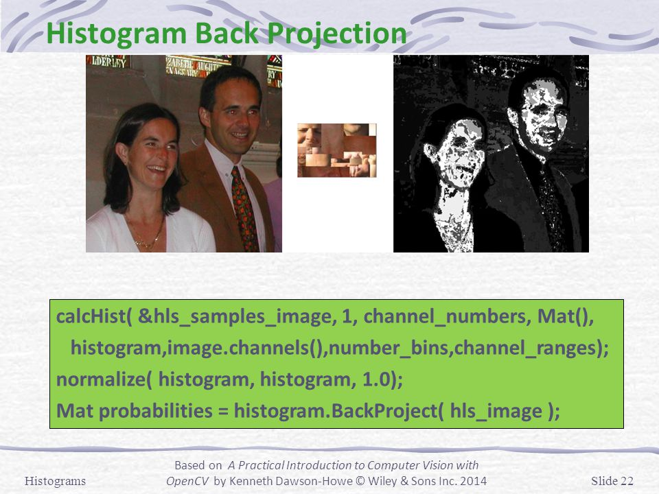Histogram Back Projection