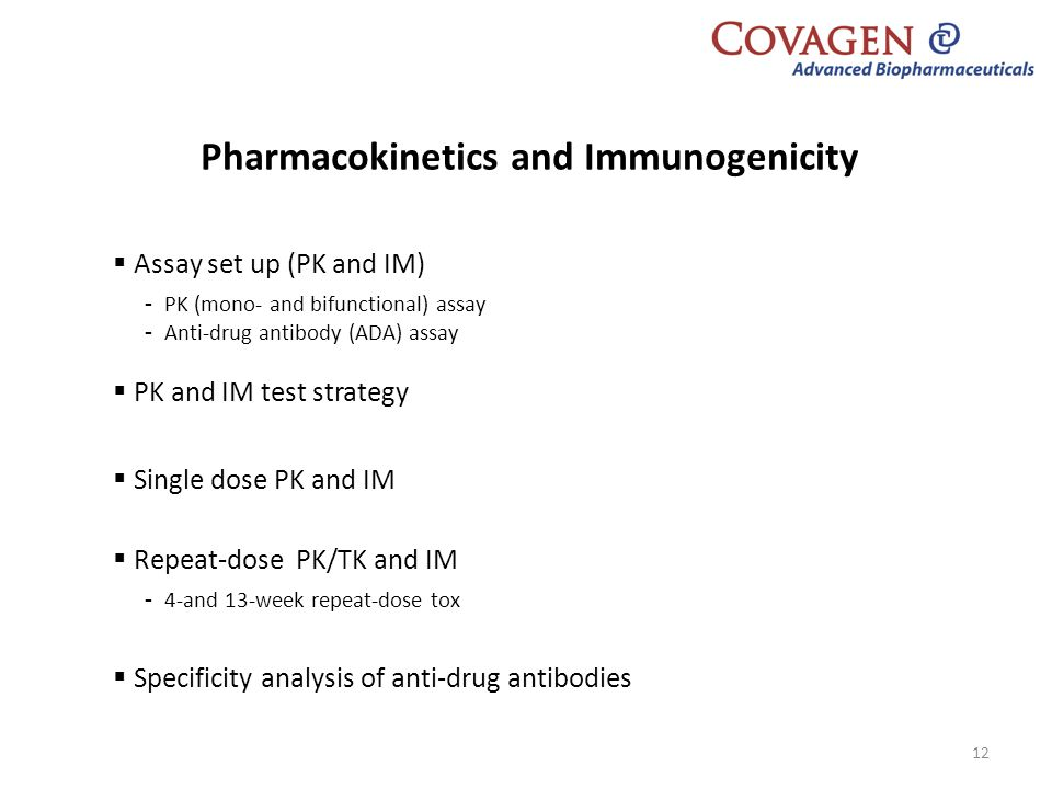 Pharmacokinetics and Immunogenicity