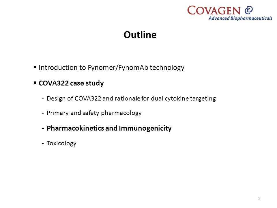 Outline Introduction to Fynomer/FynomAb technology COVA322 case study