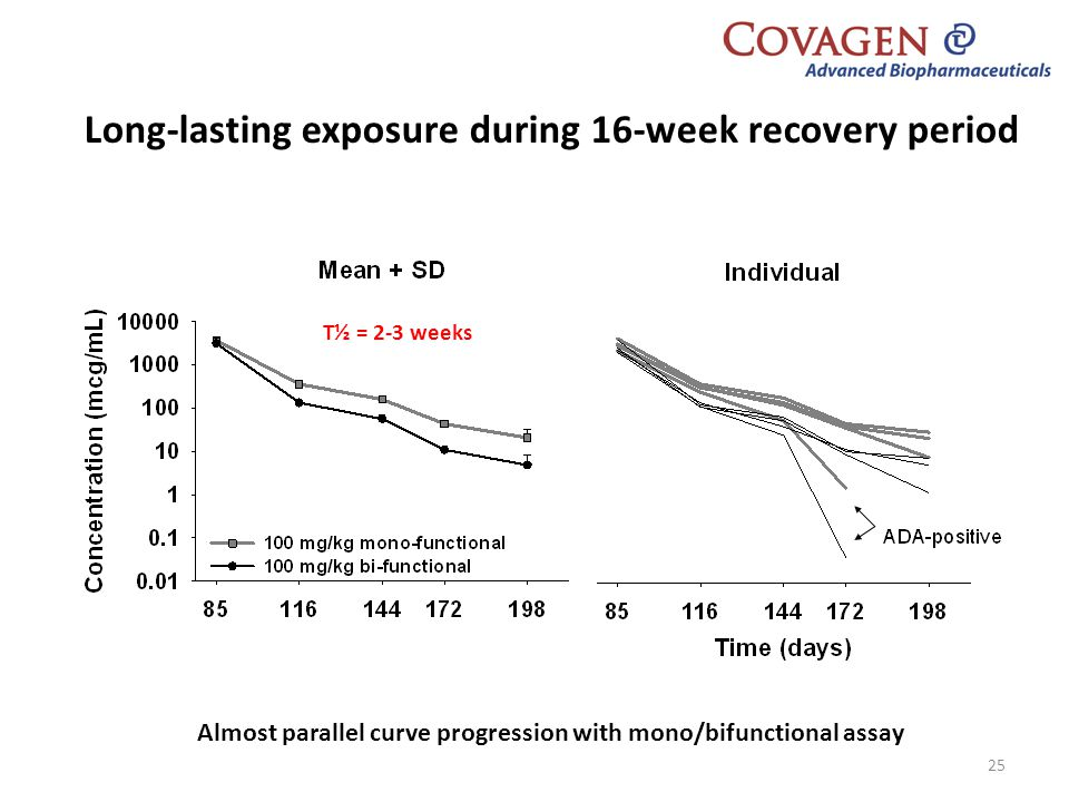 Long-lasting exposure during 16-week recovery period