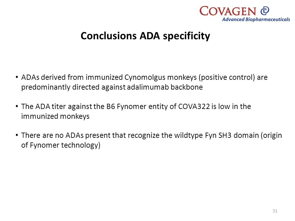 Conclusions ADA specificity