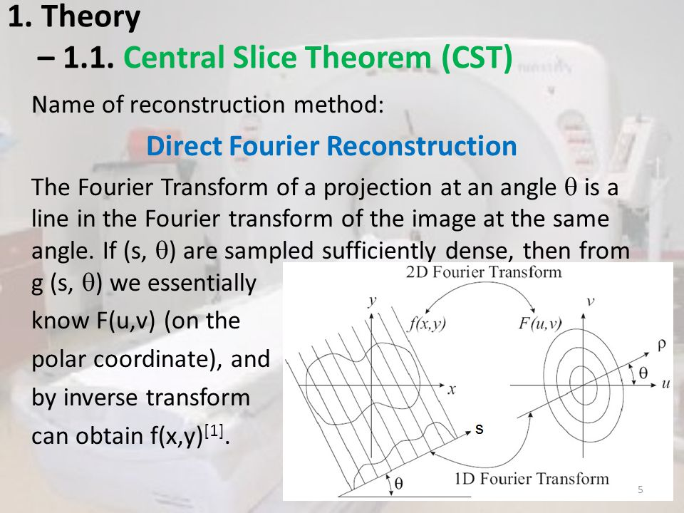 1. Theory – 1.1. Central Slice Theorem (CST)