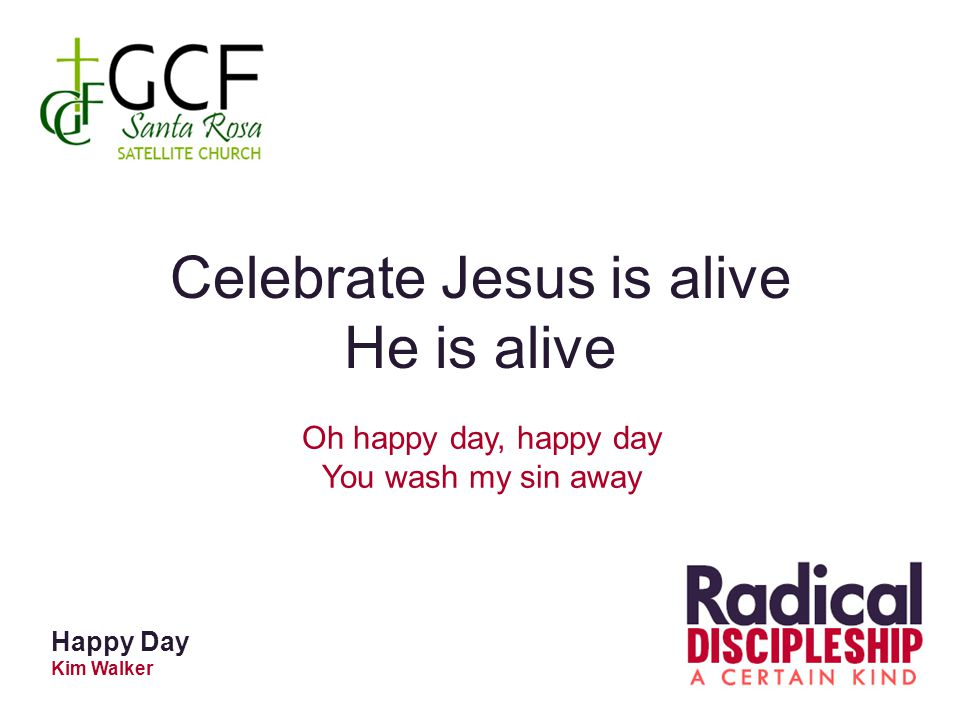 Celebrate Jesus is alive