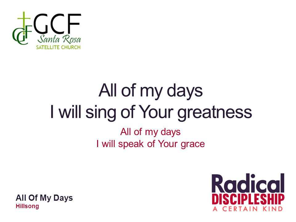 I will sing of Your greatness