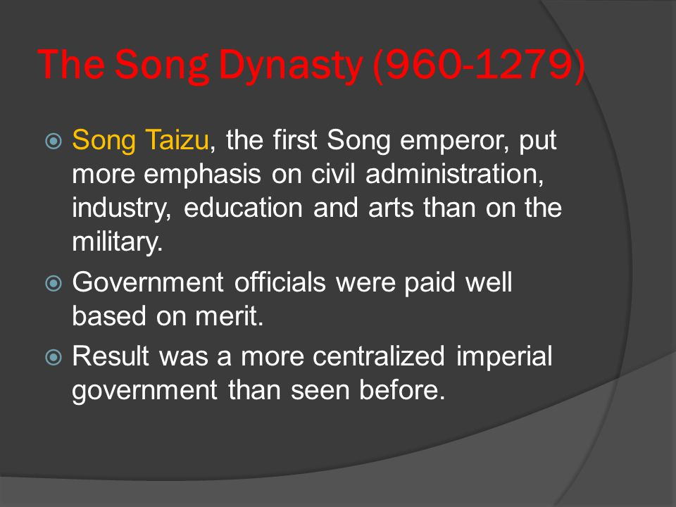 The Song Dynasty (960-1279)