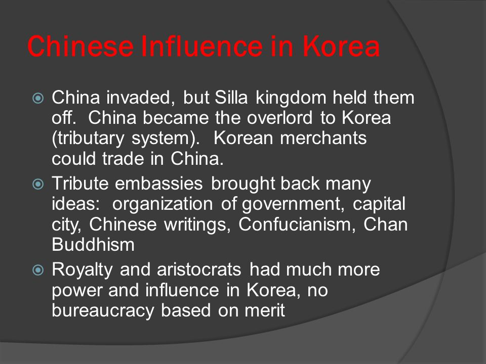 Chinese Influence in Korea