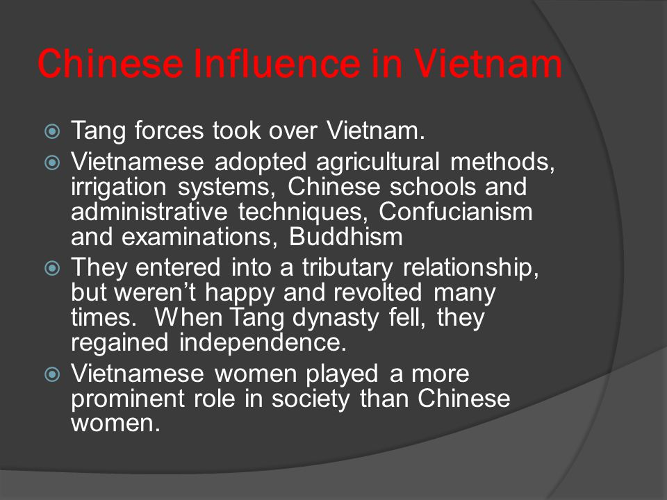 Chinese Influence in Vietnam