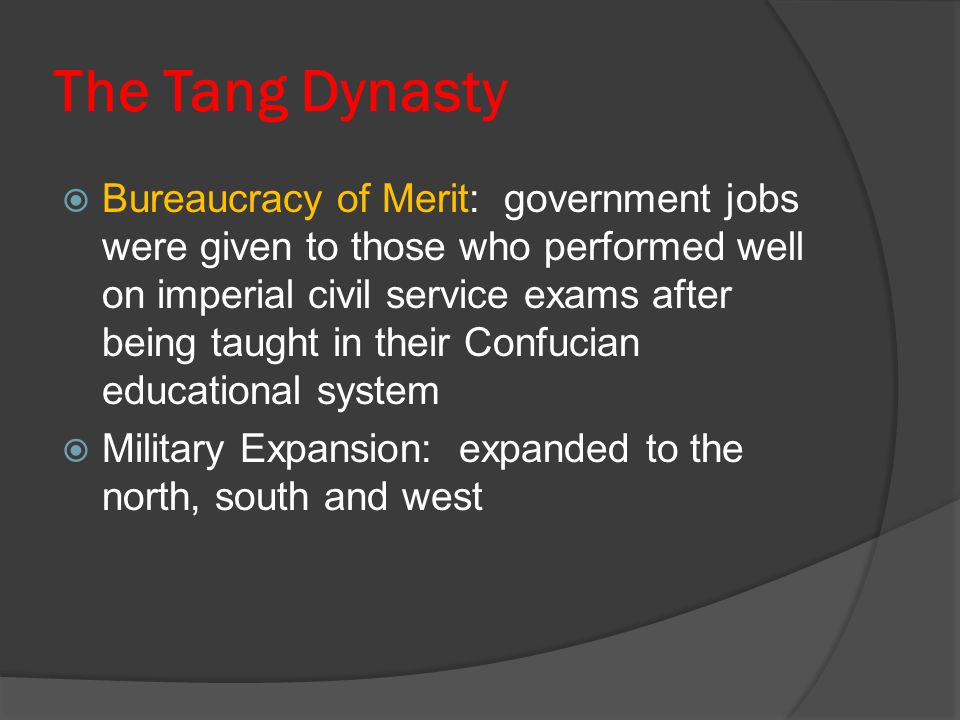 The Tang Dynasty