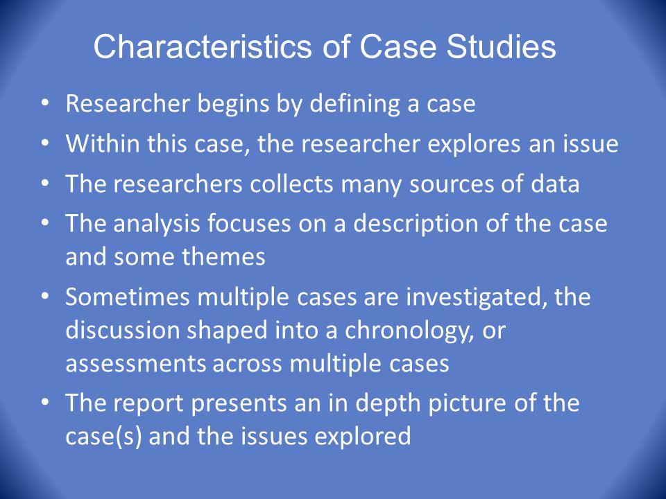 Characteristics of Case Studies