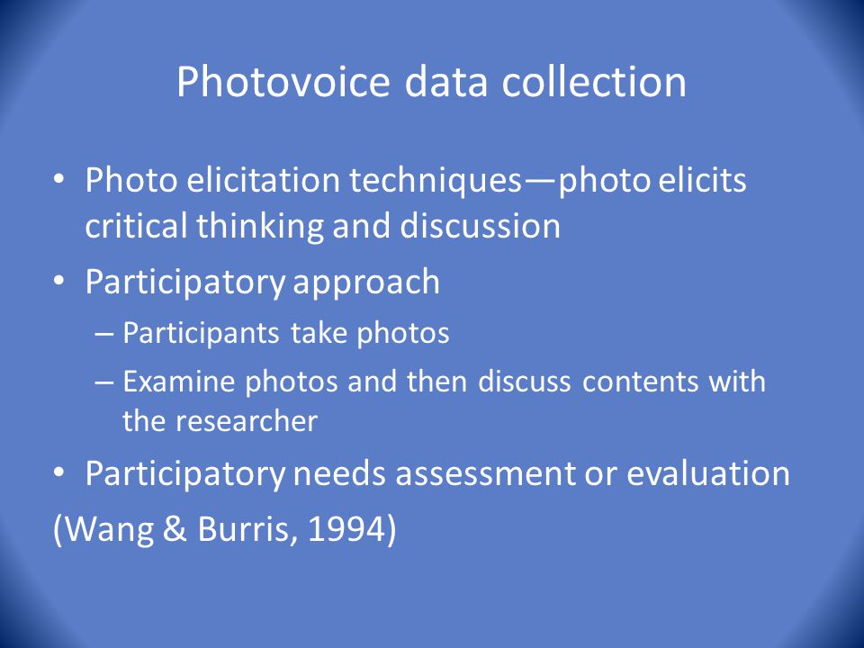 Photovoice data collection