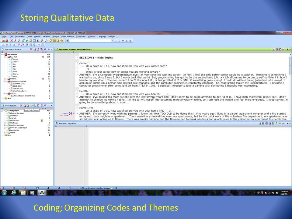 Storing Qualitative Data