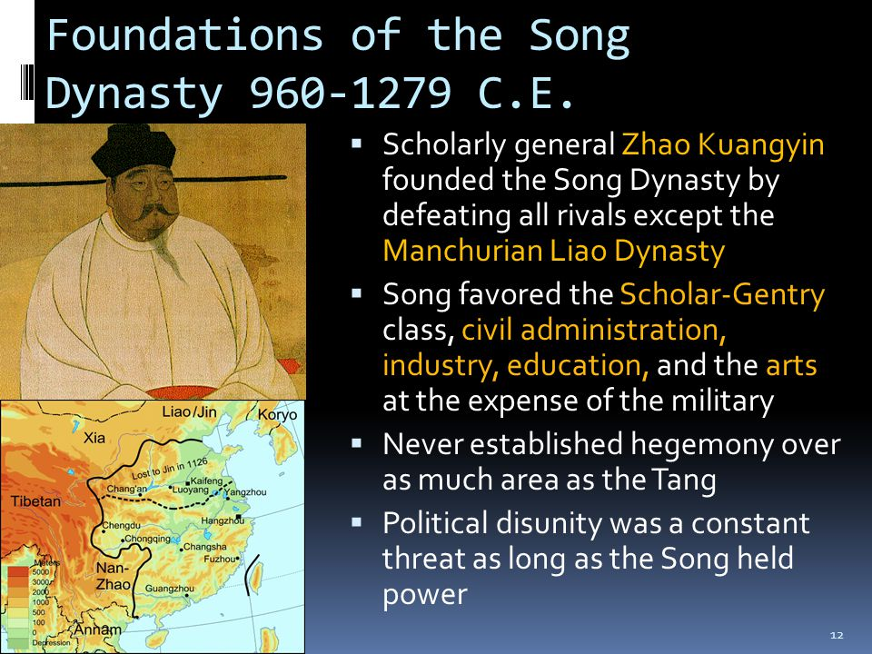 Foundations of the Song Dynasty 960-1279 C.E.