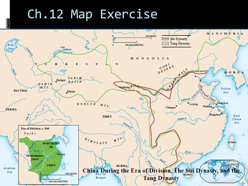 China ce chapter ppt video online download 4 ch12 map exercise china during the era of division the sui dynasty and the tang dynasty sciox Choice Image
