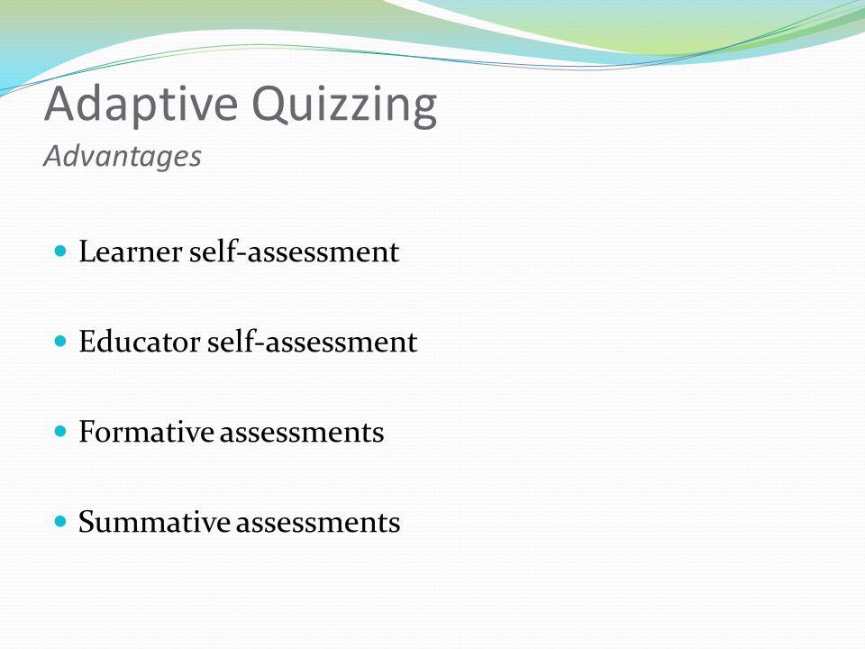Adaptive Quizzing Advantages