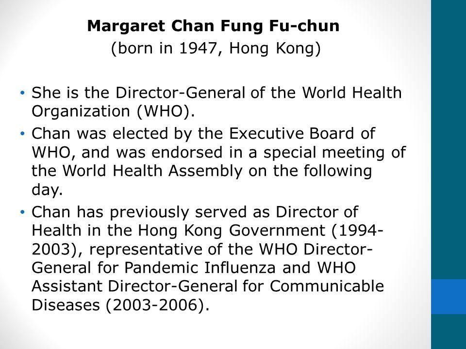 Margaret Chan Fung Fu-chun