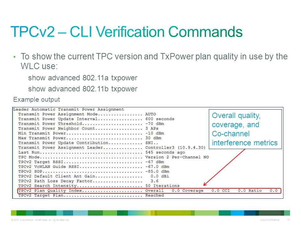 TPCv2 – CLI Verification Commands
