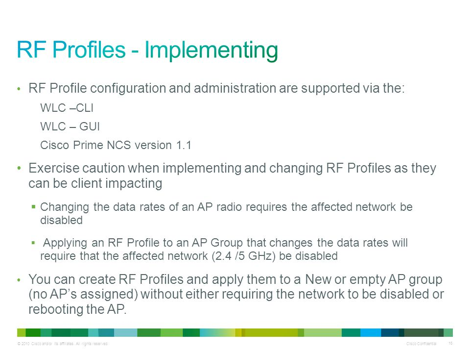 RF Profiles - Implementing