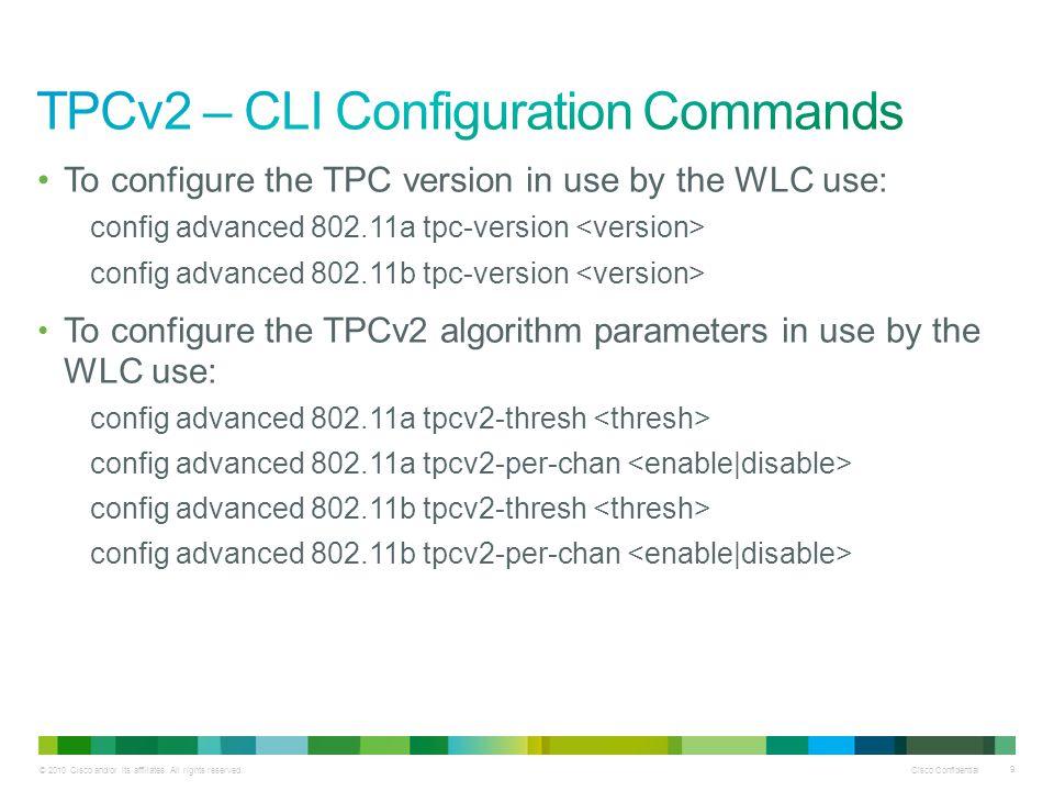 TPCv2 – CLI Configuration Commands