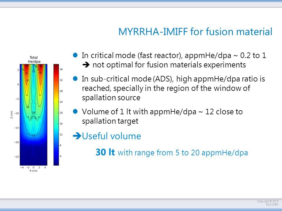MYRRHA-IMIFF for fusion material