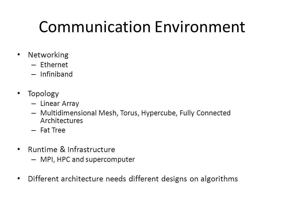 Communication Environment