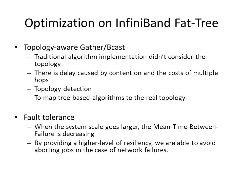 Optimization on InfiniBand Fat-Tree