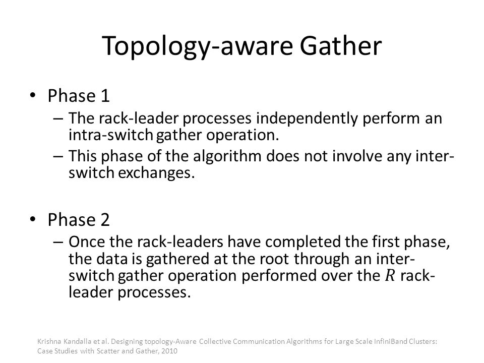 Topology-aware Gather