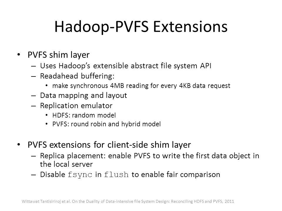 Hadoop-PVFS Extensions