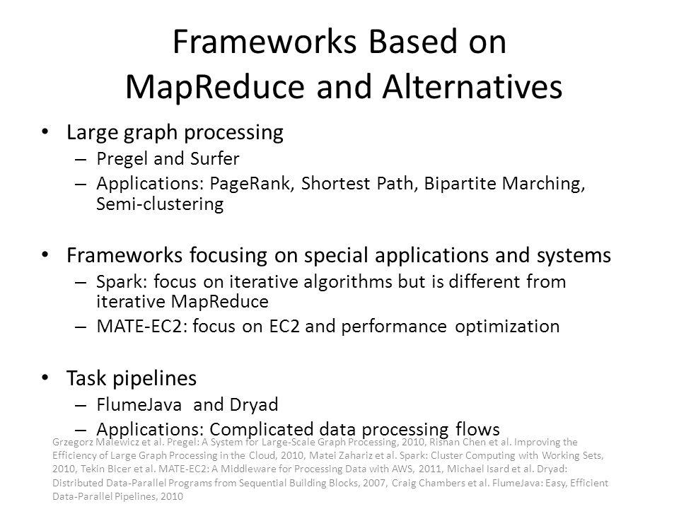 Frameworks Based on MapReduce and Alternatives