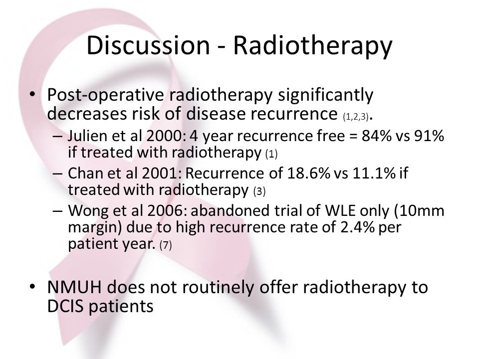 Discussion - Radiotherapy