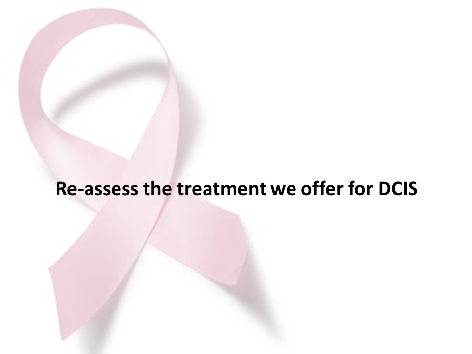 Re-assess the treatment we offer for DCIS