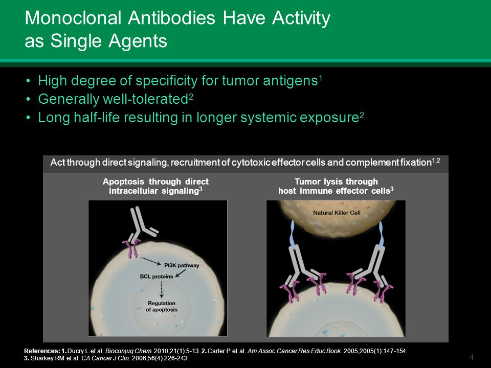 Monoclonal Antibodies Have Activity as Single Agents