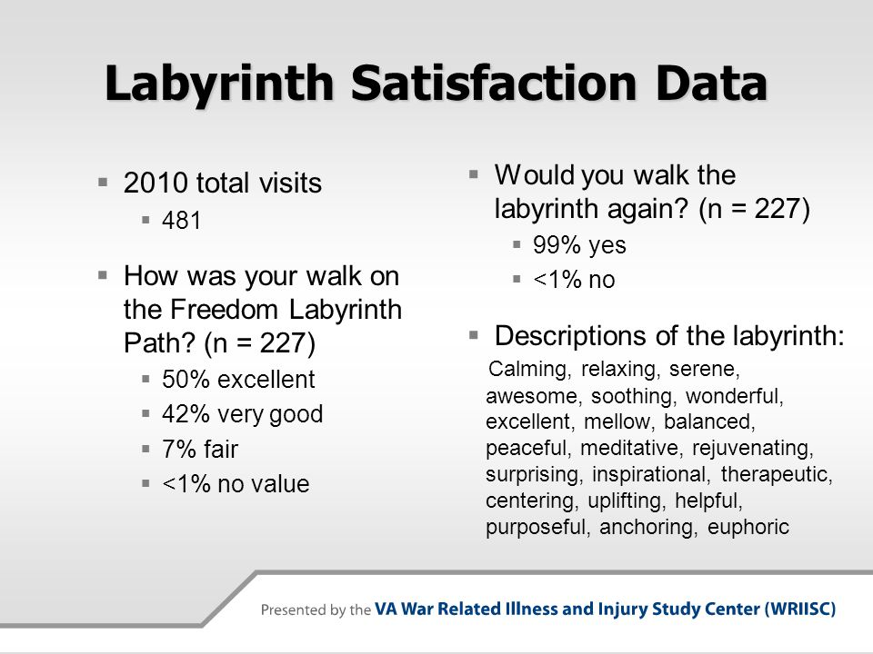 Labyrinth Satisfaction Data