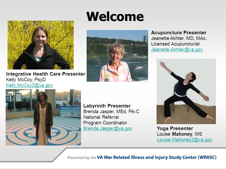 Welcome Acupuncture Presenter Integrative Health Care Presenter