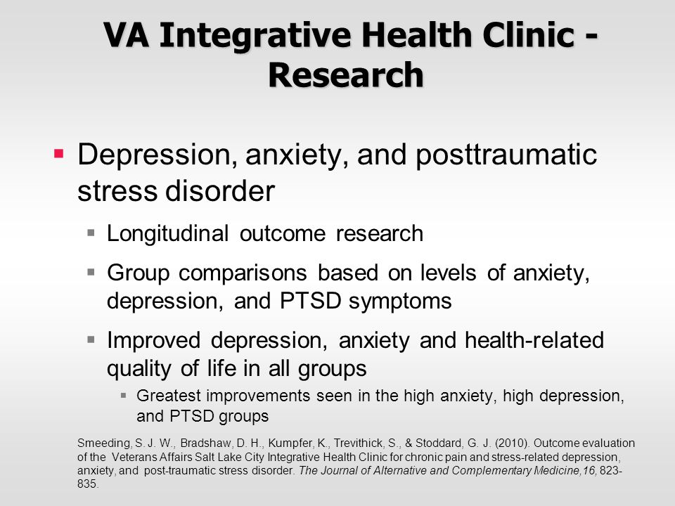 VA Integrative Health Clinic - Research