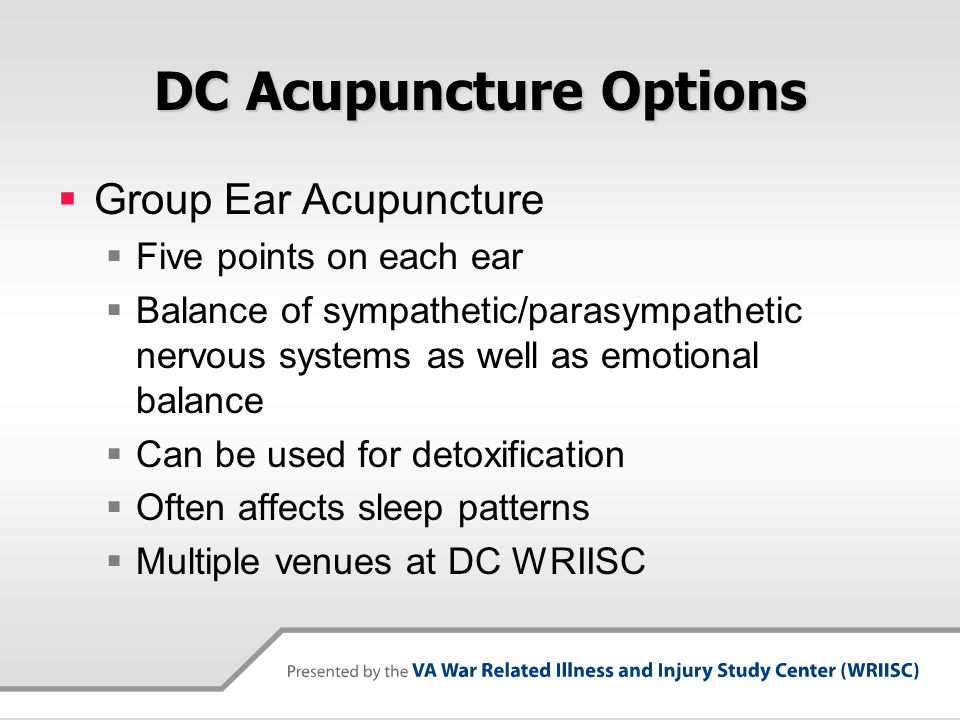 DC Acupuncture Options