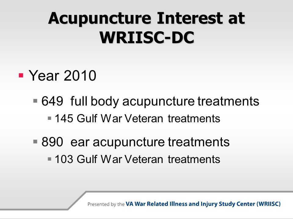 Acupuncture Interest at WRIISC-DC