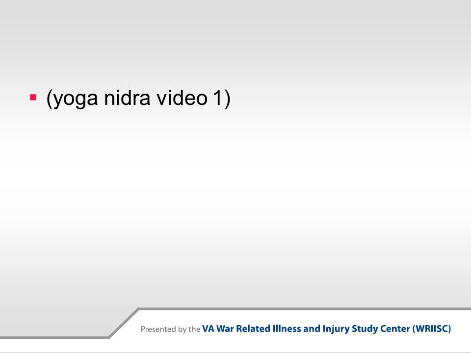 (yoga nidra video 1)