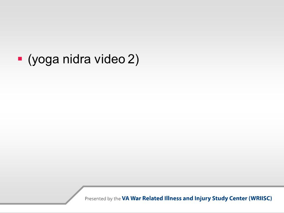 (yoga nidra video 2)