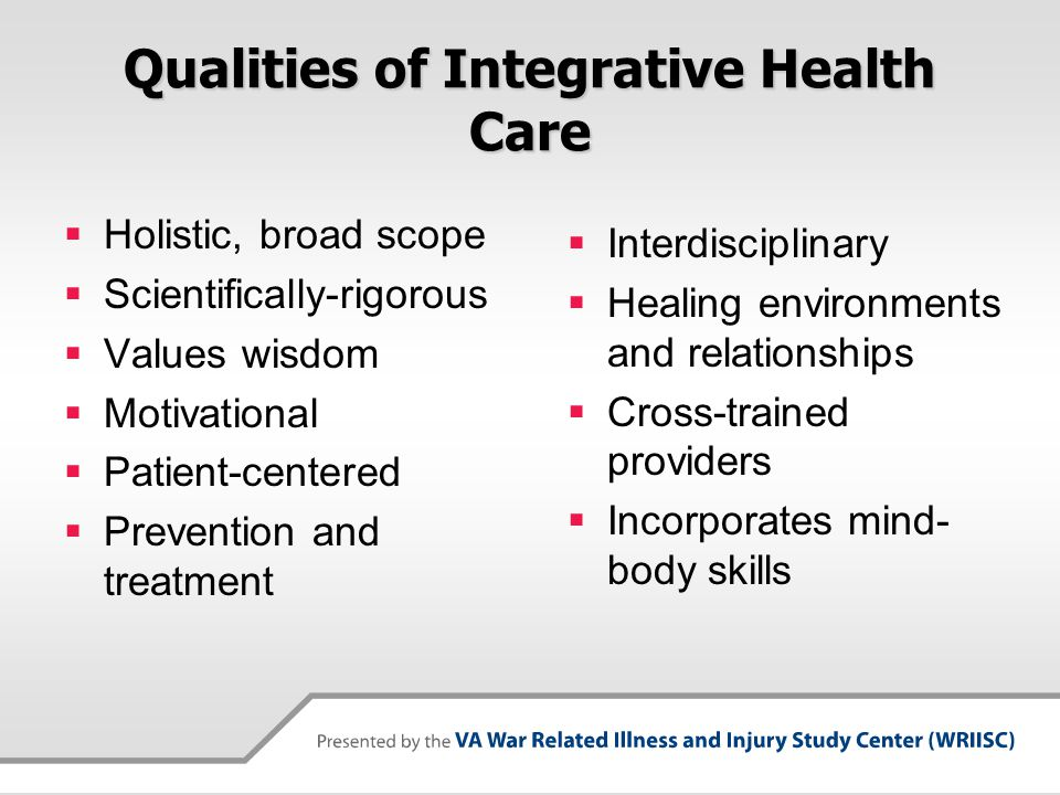 Qualities of Integrative Health Care