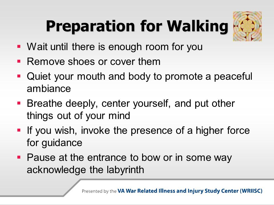 Preparation for Walking
