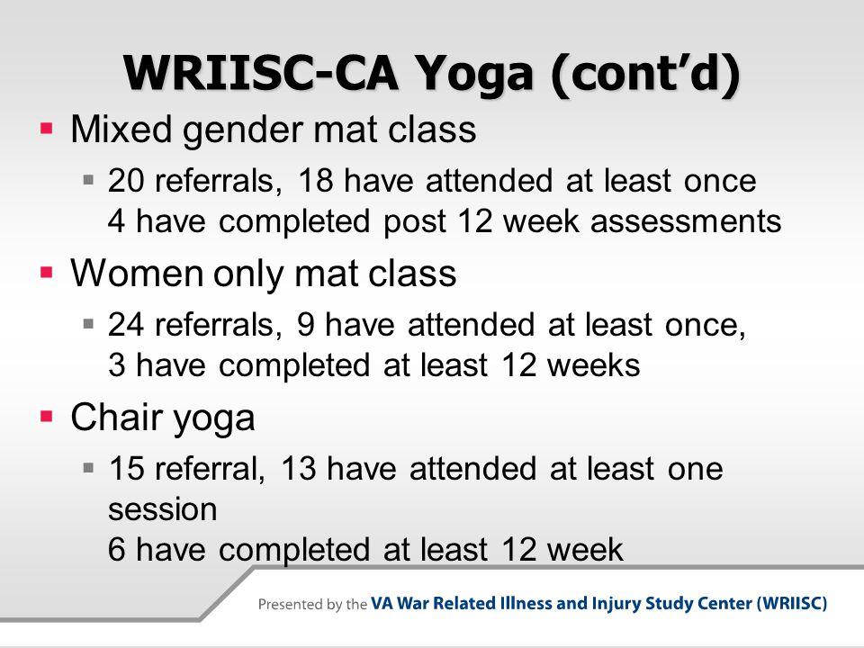 WRIISC-CA Yoga (cont'd)