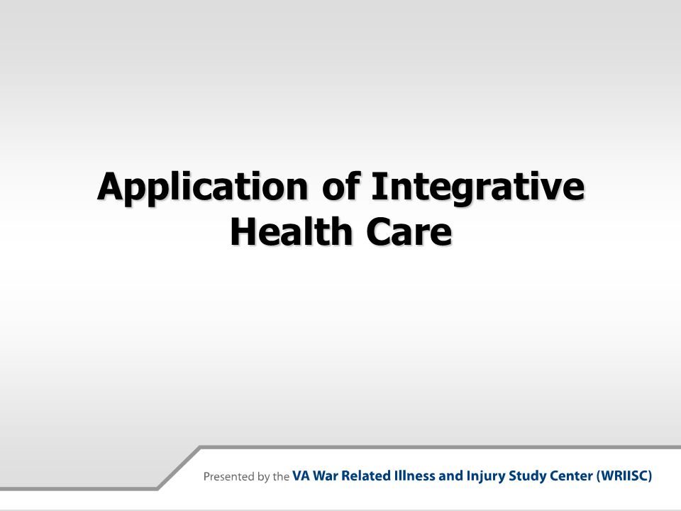 Application of Integrative Health Care