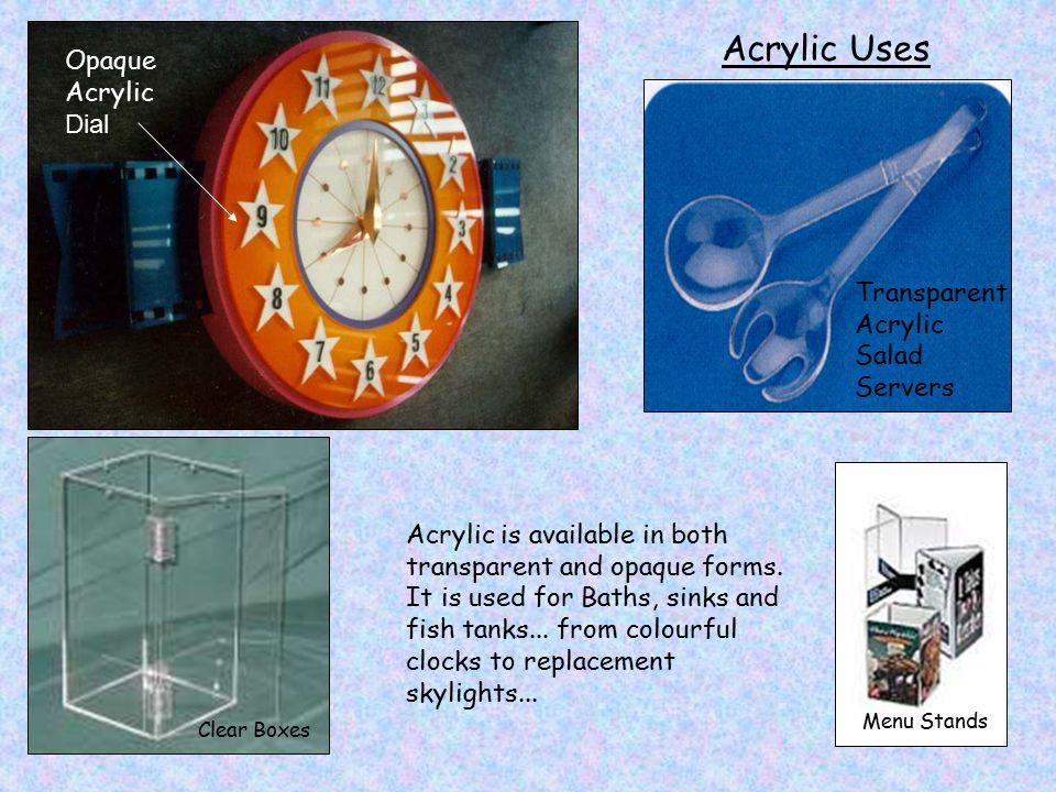 Acrylic Uses Opaque Acrylic Dial Transparent Acrylic Salad Servers