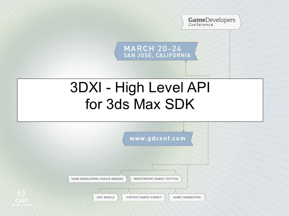 3DXI - High Level API for 3ds Max SDK
